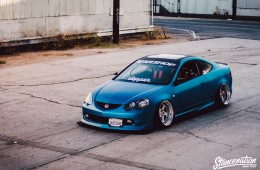 Slammed Acura RSX on Rotiform Wheels-7