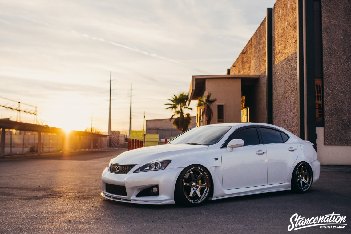 Clean Lexus ISF on TE37-1