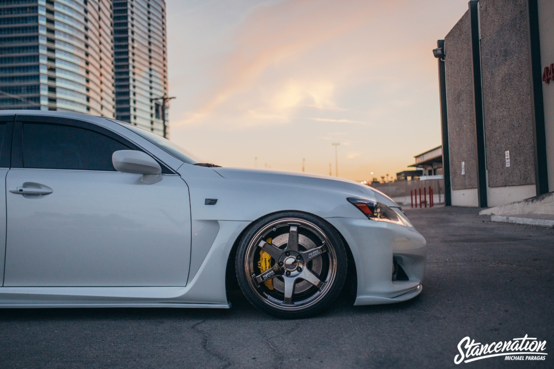 Clean Lexus ISF on TE37-13