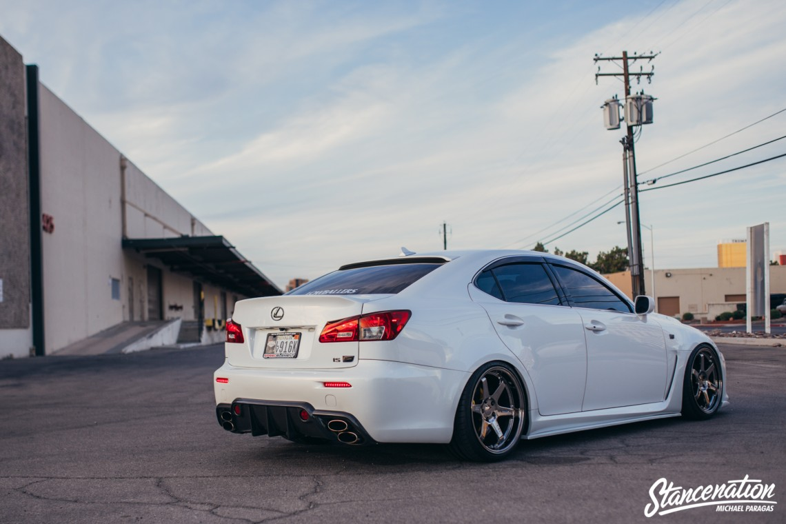 Clean Lexus ISF on TE37-4
