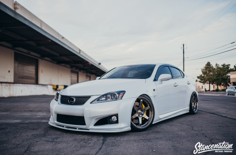 Clean Lexus ISF on TE37-9