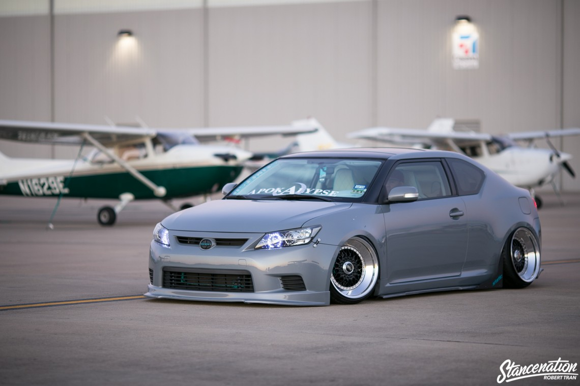 Slammed Scion tC-17
