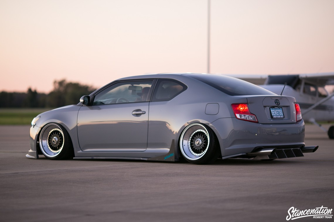 Slammed Scion tC-19