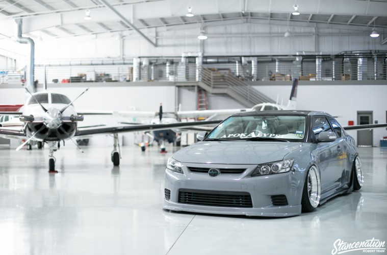 Slammed Scion tC-2