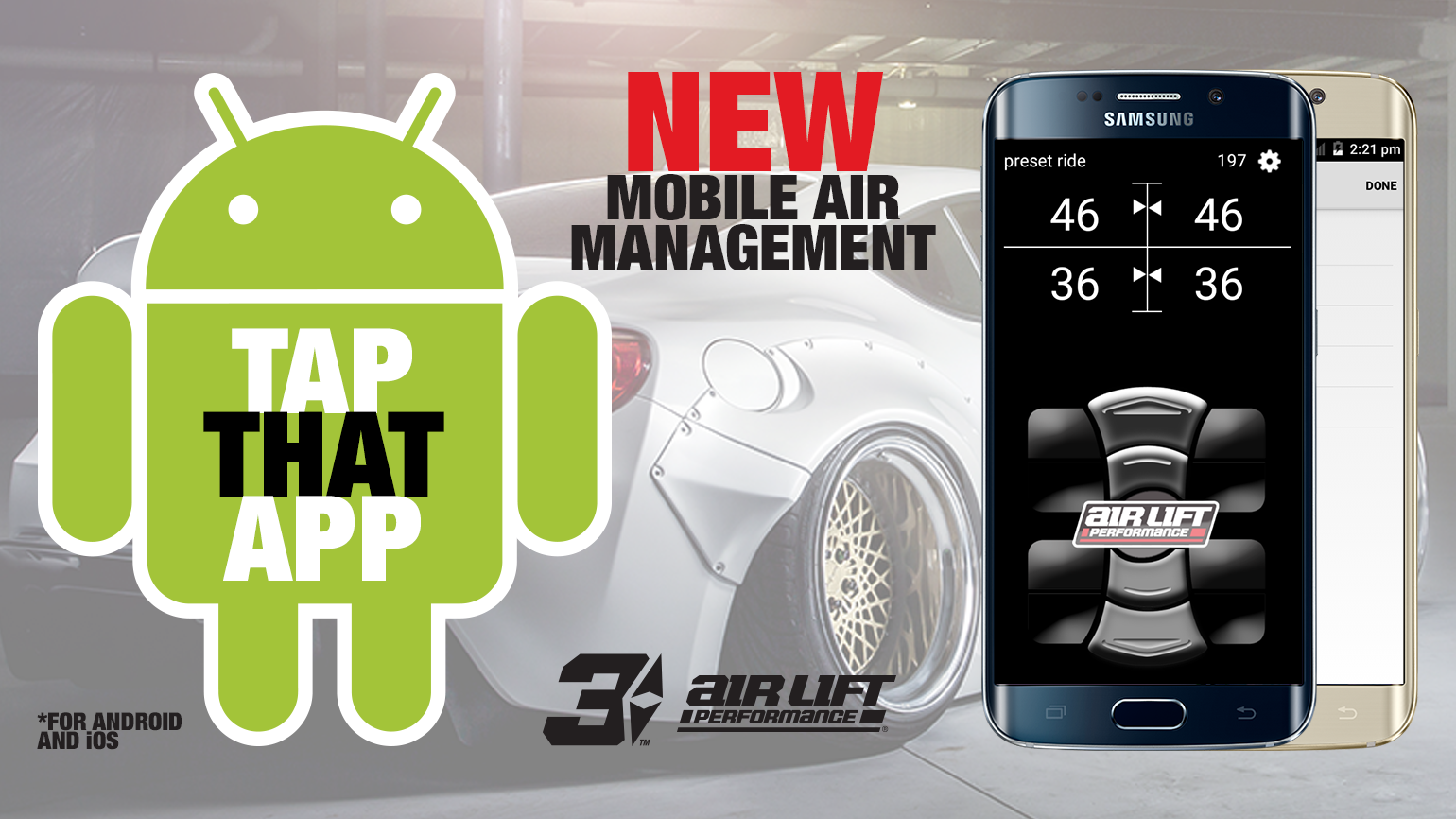 Air Lift Performance 3H/3P Android Mobile App Now Available.