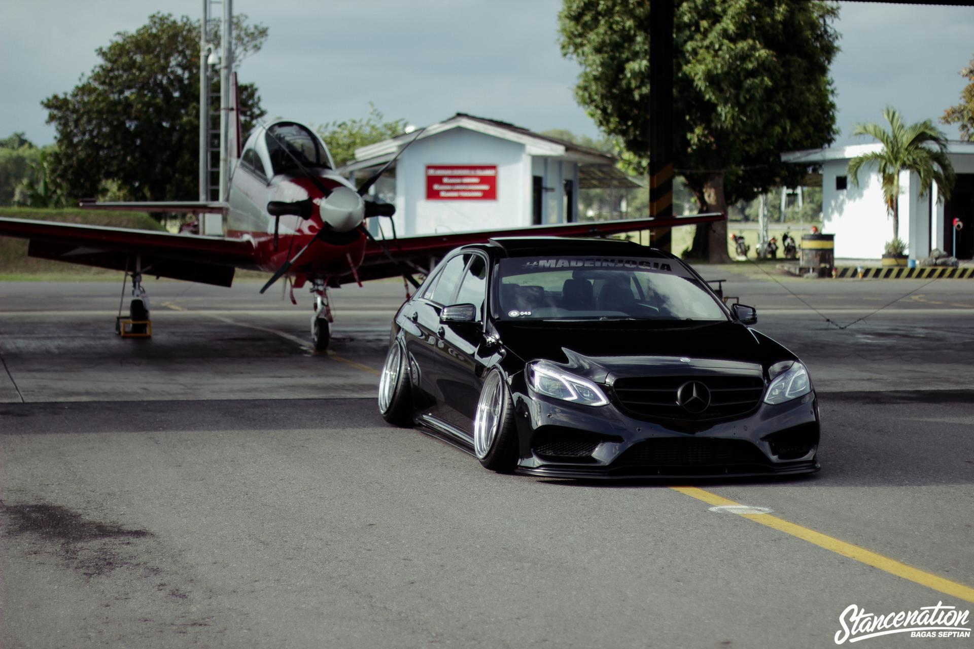 Slammed Radiused Mercedes Benz E Class 1 Stancenation