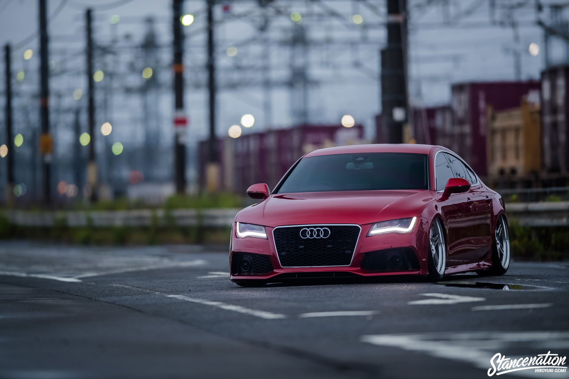 fat lines yuuki nakano 39 s bagged audi a7 stancenation form function. Black Bedroom Furniture Sets. Home Design Ideas