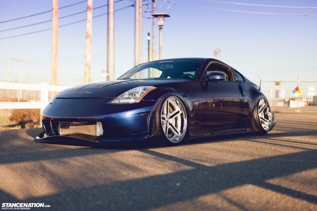 Slammed & Stanced Nissan 350Z on Luxury Abstract Wheels (17)