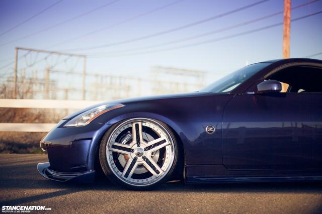 Slammed & Stanced Nissan 350Z on Luxury Abstract Wheels (16)