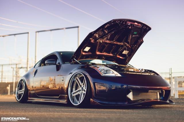 Slammed & Stanced Nissan 350Z on Luxury Abstract Wheels (11)