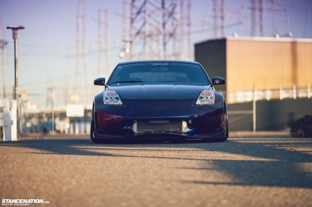 Slammed & Stanced Nissan 350Z on Luxury Abstract Wheels (9)
