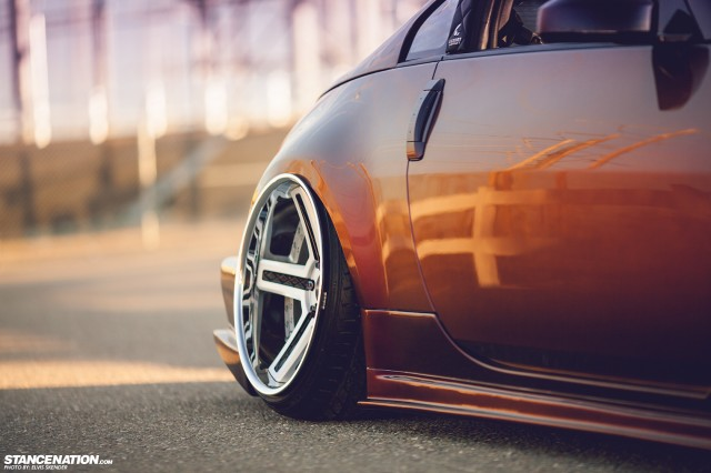 Slammed & Stanced Nissan 350Z on Luxury Abstract Wheels (8)