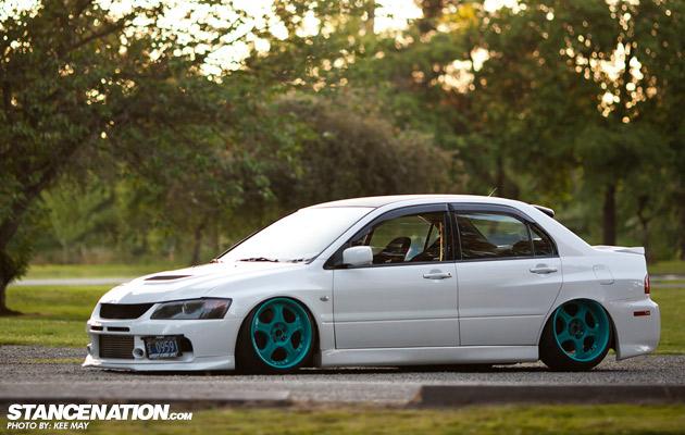 "Slammed ""Rally Car"" // Matt's Mitsubishi EVO."