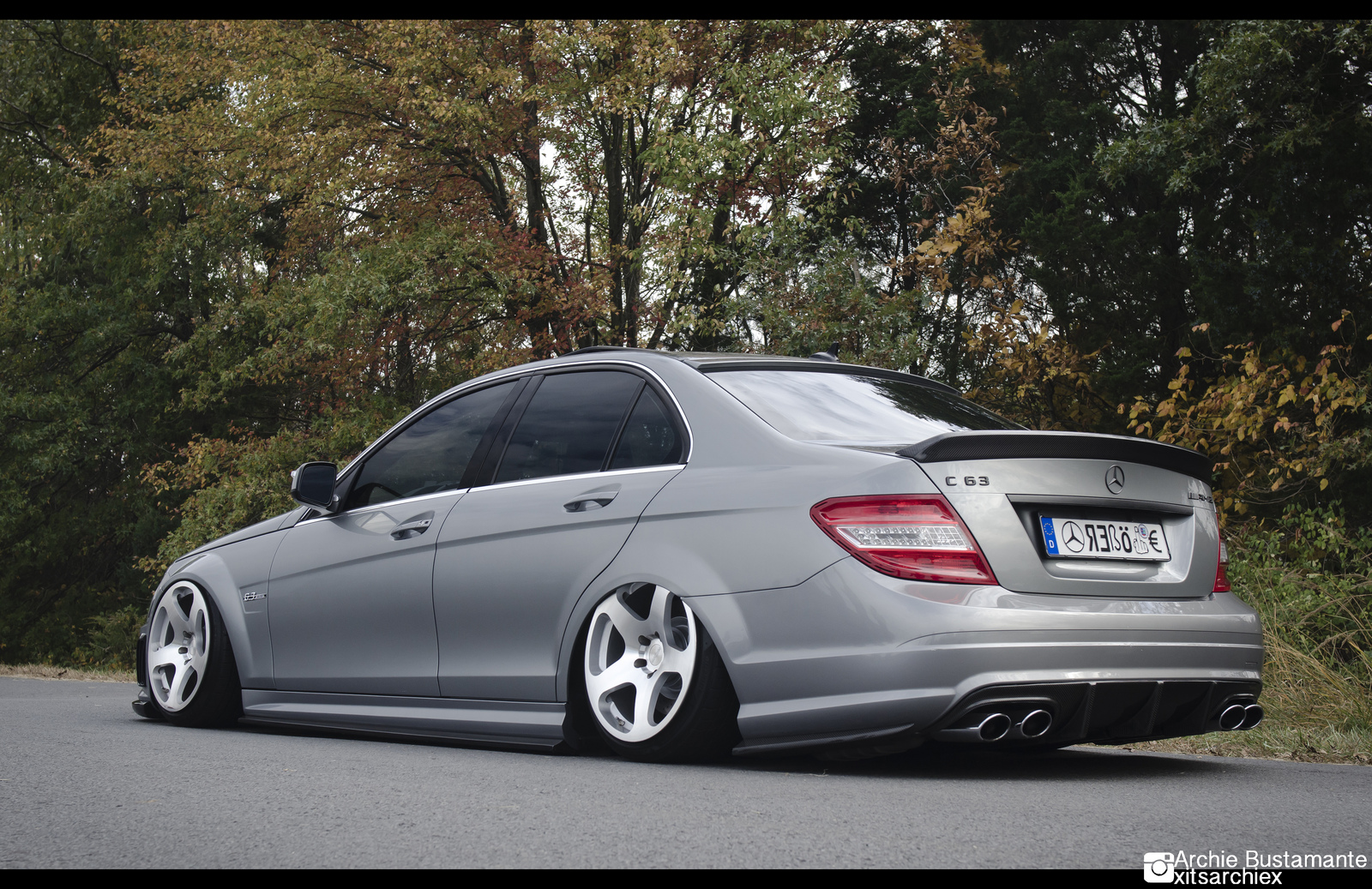 Slammed Amg C63 on c250 amg coupe