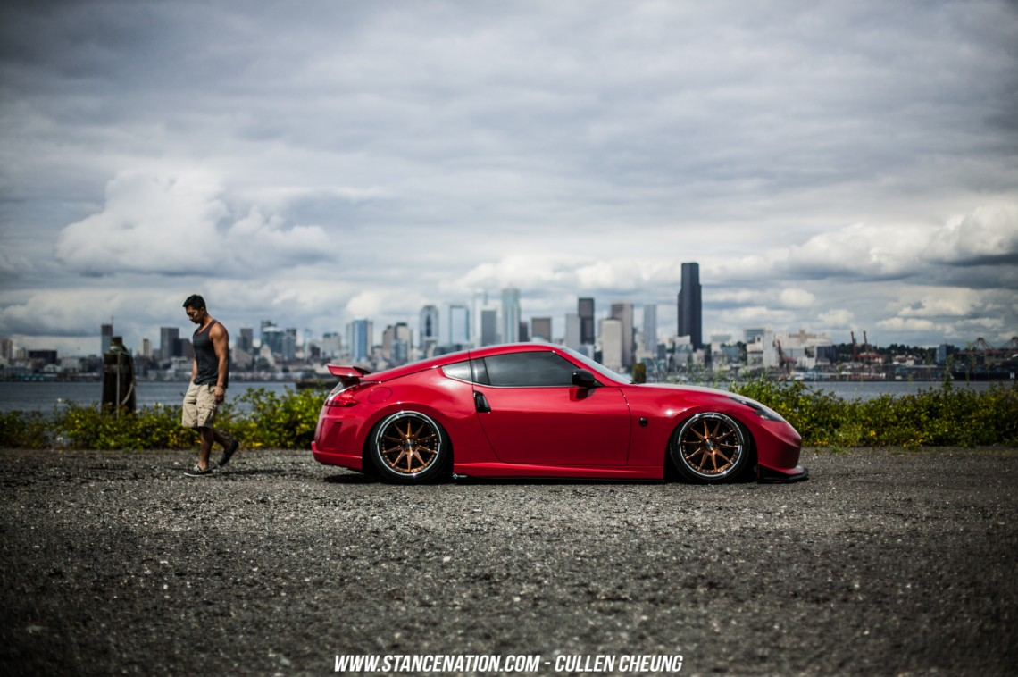 Stanced Bagged Nissan 370Z-22