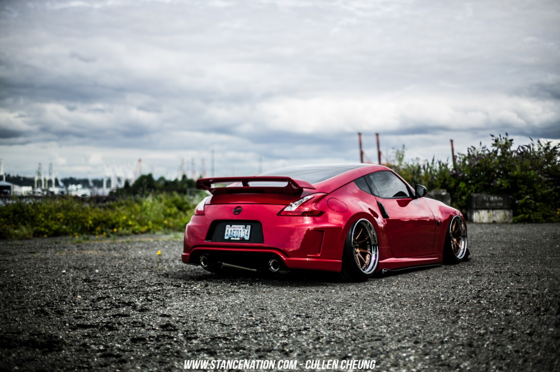 Stanced Bagged Nissan 370Z-24
