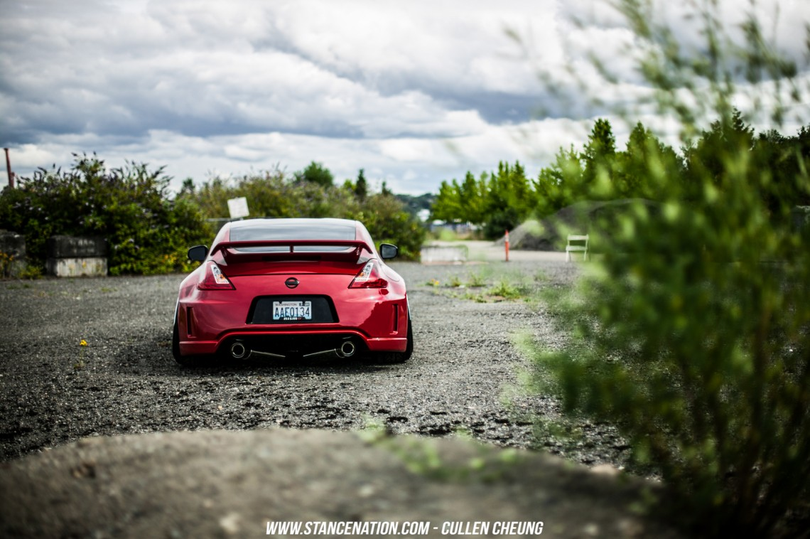 Stanced Bagged Nissan 370Z-25