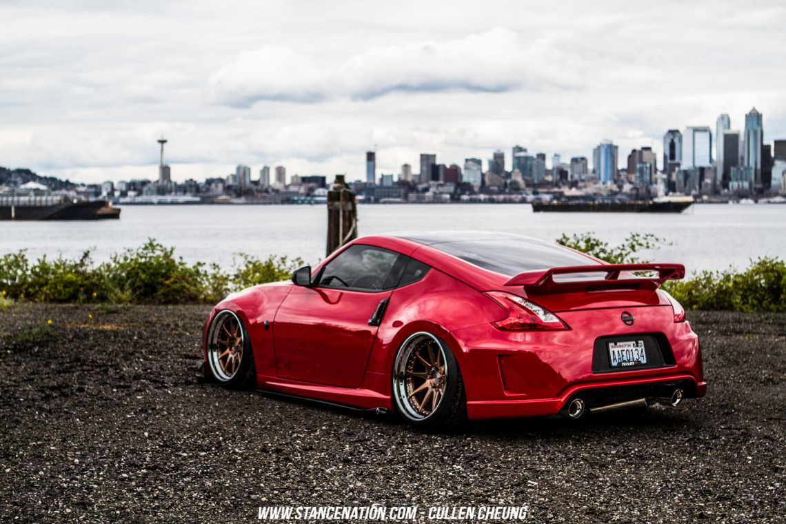 Stanced Bagged Nissan 370Z-28