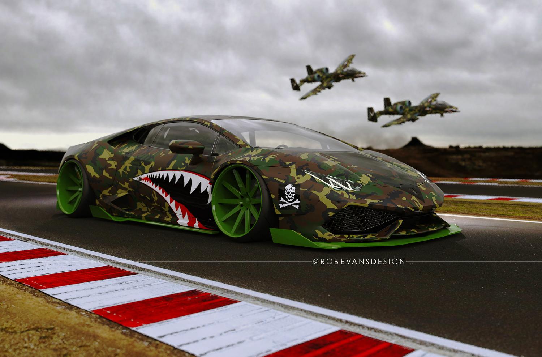 How Insane Is This Lamborghini Huracan Stancenation