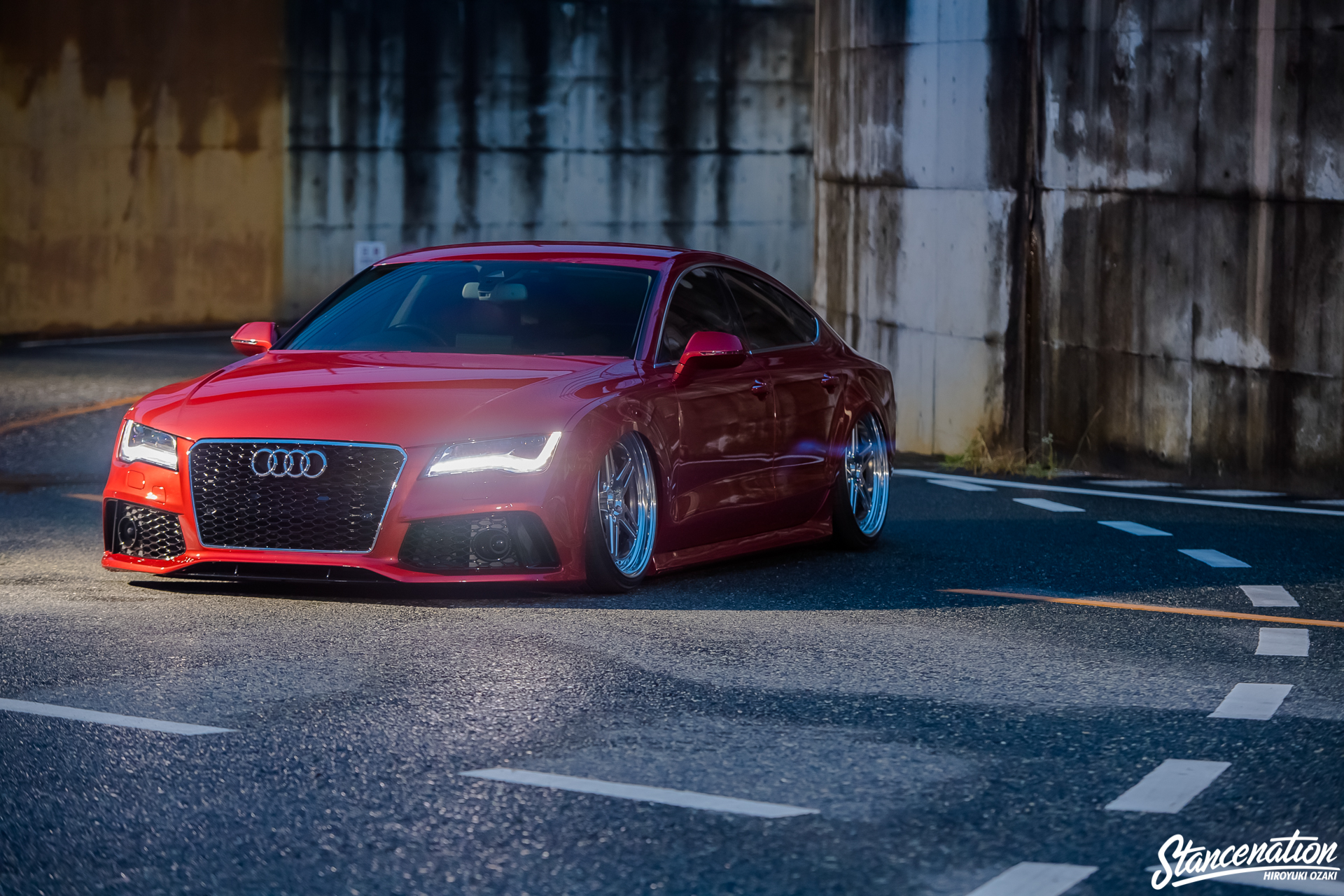 Vw Owns What >> Fat Lines // Yuuki Nakano's Bagged Audi A7. | StanceNation™ // Form > Function
